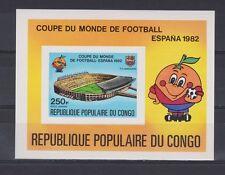 s5614) CONGO 1980 MNH** World Cup Football'82- CM Calcio S/S IMPERF