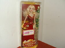 "NEW in BOX BARBIE CHRISTMAS CAROL BARBIE in RED & GOLD DESIGN DRESS..11.5"" TALL"