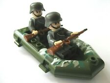 Deutsche Soldaten mit Schlauchboot grün Minifiguren Spielz. Cobi / Lego komp