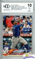 2018 Topps #698B Ronald Acuna ROOKIE VARIATION BECKETT 10 MINT Braves!