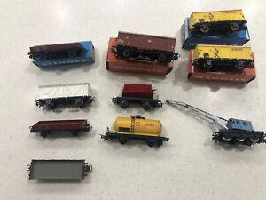 Marklin Ho Lot Of Goods Wagons Etc