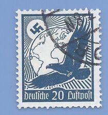 Germany Third Reich Nazi 1934 Nazi Swastika Eagle Luftpost 20 Stamp  WW2 ERA #2