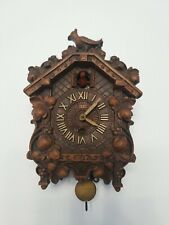 Lux Waterbury Conn. Mini Small Cuckoo Clock Old Collectable Clock For Parts
