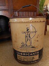 Archer Petroleum Lubricants Pail Gas Oil Collectible Man Cave 1950's ? Omaha NE