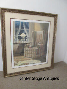 """56799  JAMES LUMBERS """"DOUBLE TROUBLE"""" Framed Pencil Signed #'d Print"""