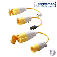 PAT Test Adaptor Set - 110 Volt 32 Amp Plug, Socket and Power Lead LDM110A2