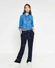 Zara Trafaluc Woman Pajama Bird Flower Fit Light Weight Flora Trousers Medium M