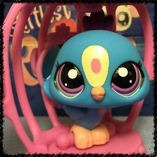 LITTLEST PET SHOP # 1678 RARE ADVENT CALENDER PEACOCK w/ BIRD CAGE