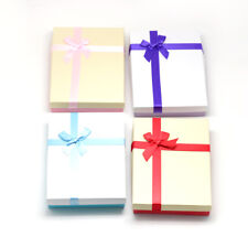 12PCS Rectangle Cardboard Gift Boxes for Necklace Earring Mixed Color 16x12cm