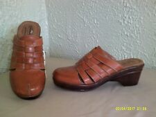 Dr. Scholl's - Golden Tan Leather Clog --  7 1/2
