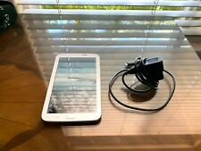 Samsung Galaxy Tab3 Model SM-T217S GOOD CONDITION Bundle with Charger - WHITE