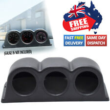 Universal 2'' 52mm 3 Hole Mount Holder Dashboard Turbo Boost AU Triple Gauge Pod