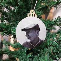 Personalised Christmas Photo Remembrance Bauble Memorial Tree Decoration Gift-UK