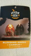 Hyde and Eek! Boutique Bleeding Skull Candle Gold