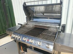 Stainless steel commercial gas BBQ, 7 burner