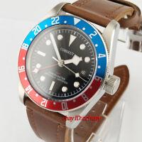 Corgeut 41mm Red blue bezel Sapphire Glass GMT Automatic Wrist watch 2658