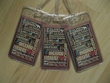 Western Airlines Luggage Tags - Vintage Playing Cards Suitcase Name Tag Set (3)