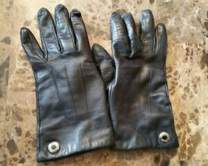 Coach Black Leather Gloves-Size 7.5