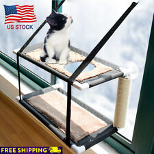 Cat Puppy Window Perch Hammock Pet Bed Mounted Sunshine Seat w/ Suction Cup Us