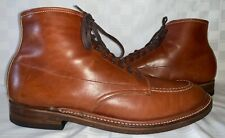 Mens Size 10.5 ALDEN INDY Ankle Short Brown Leather Lace Up Lacer Casual Boots