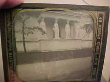 1893 WORLDS COLUMBIAN EXPOSITION Glass LANTERN SLIDE-ART BUILDING w CARYATIDS