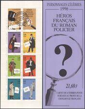 France 1999 Red Cross/Health/Welfare/Detectives/Books/Crime 6v bklt (b10019e)