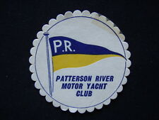 PATTERSON RIVER MOTOR YACHT CLUB COASTER