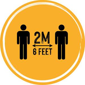 Social Distancing Floor Sticker/Decals - Anti Slip, 2m Stickers