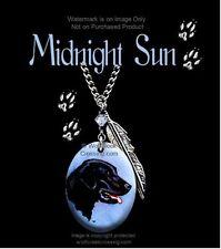 MIDNIGHT SUN BLACK LAB NECKLACE DOG LABRADOR RETRIEVER ART GIFT FREE SHIP  24C*