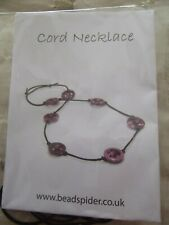 Cord/bead necklace Kit - Pink
