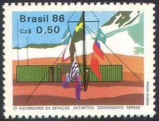 Brazil 1986 Antarctic Station/Research Base/Flags/Polar Exploration 1v (n26644)