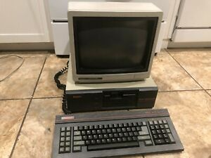 Vintage Franklin PC-8000 Computer w/ Keyboard and Tandy CM-11 Monitor