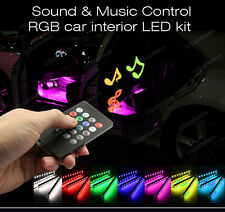 12V Car Interior RGB colour LED Strip Light Wireless Music Control 7 Colours