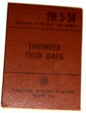 Engineer Field Data Manual 1965 Great Illustrations! Nice See!