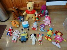 New listing Bundle 18 x Plush Soft Tv & Film Character Toys 17 ins High max - Barney, Minion