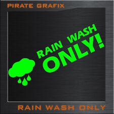 AUTO AUFKLEBER CAR TATTOO RAIN WASH ONLY HAND WASCHEN TOP TUNING PFLEGE DECAL ²