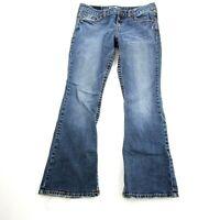 Aeropostale Women's Hailey Skinny Flare Jeans Size 11/12 Medium Wash Cotton