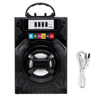 bluetooth Portable LED Speaker Subwoofer USB FM Radio HIFI TF New
