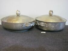 Vintage Hammered Aluminum Tulip Covered Casserole 161