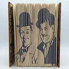 Book Folding Pattern - Mark Measure Cut & Fold - Laurel and Hardy