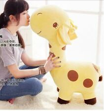 30'' Giant stuffed giraffe yellow soft plush cartoon big toy gift huge doll 75CM