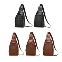 Crocodile Leather Men Waist Pack Chest Purse Zipper Shoulder Crossbody Bag Bags