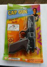 RARE Vintage Super 007 Series Cap Gun Pistol NIP 8 Shot Discs Shooter Toy Sealed
