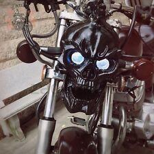 Cool LED Black Skull Head Light Motorcycle Headlight Lamp for Harley Custom 883