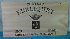 2009 CHATEAU BERLIQUET SAINT EMILION GRAND CRU WOOD WINE PANEL DUCKS GEESE