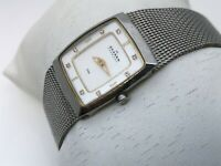 Skagen Denmark Steel Women Watch Silver Tone Mesh Metal Adjustable Band 3ATM