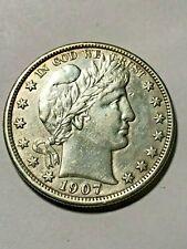 1907-D Barber Half Dollar Silver Au #16559