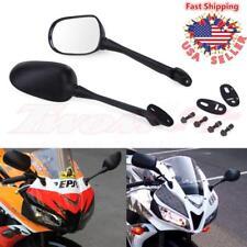 Long Stem Motorcycle Side Rearview Mirrors For Honda CBR600RR Suzuki GSXR600 750
