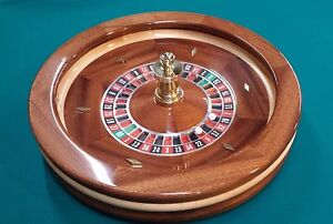 22 Inch Solid Mahogany Roulette Wheel Made in USA by ACEM CASINO SUPPLIES