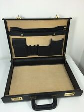 Vintage COACH Black  Leather Attache Briefcase Hardside.